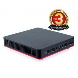 Caja ordenador semitorre micro atx  ph2503oem  negro plata oem - Imagen 1
