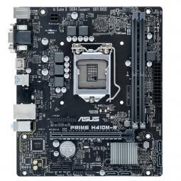 Placa base asus intel prime h410m - r socket 1200 ddr4 x2 max 64gb 2933 mhz hdmi d - sub dvi - d matx caja blanca - Imagen 1