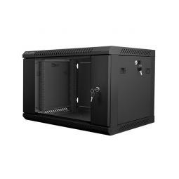 Armario rack lanberg 6u 600x450x368 auto ensamblado 19pulgadaspulgadas hasta 60 kg negro - Imagen 1