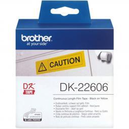 Etiquetas cinta continua brother amarilla dk22606 62mm - Imagen 1