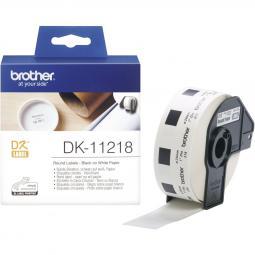 Etiquetas papel precortada brother dk11218 24mm - Imagen 1