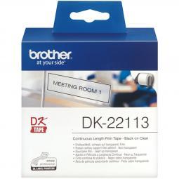 Etiquetas papel precortada brother dk22113 62mm - Imagen 1
