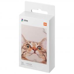 Papel fotografico xiaomi mi portable photo printer paper 5x73cm 20 hojas - Imagen 1
