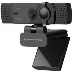 Webcam 4k conceptronic amdis07b 8.3mp -  4k ultra hd - usb - angulo vision 80º - enfoque automatico - doble microfono integrado