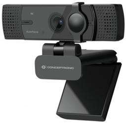 Webcam 4k conceptronic amdis08b 15.9mp -  4k ultra hd - usb - 2.26mm - angulo vision 120º - enfoque automatico - doble microfono