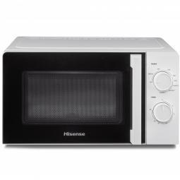 Microondas hisense h20mows1hg -  700w -  grill 900w -  20l - blanco - Imagen 1