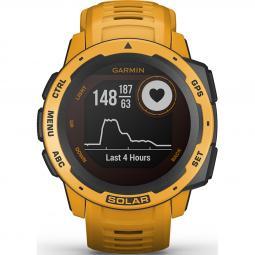 Reloj smartwatch garmin instinct solar amarillo ocre f.cardiaca - gps - 45mm - solar - acelerometro - bt - 10 atm - Imagen 1