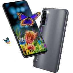 Telefono movil smartphone tcl 20l+ milky way gray 6.67pulgadas -  256gb rom -  6gb ram -   64+8+2+2 mpx -  16 mpx -  5000 mah -