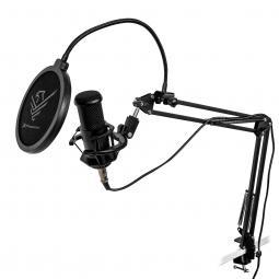 Micrófono condensador profesional phoenix con brazo articulado - montura antishock - filtro antipop - conexion jack - Imagen 1