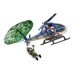 Playmobil ciudad helicoptero de policia persecucion en paracaidas - Imagen 1