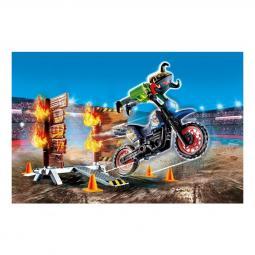 Playmobil stuntshow moto con muro de fuego - Imagen 1