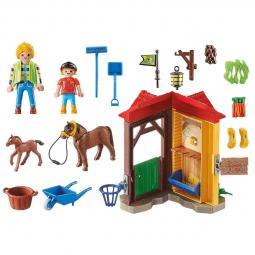 Playmobil campo starter pack granja de caballos - Imagen 1