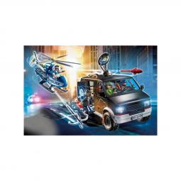 Playmobil ciudad helicoptero de policia persecucion del vehiculo huido - Imagen 1