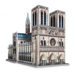 Puzzle 3d wrebbit edificios emblematicos notre dame de paris 830 piezas - Imagen 1