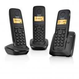 Telefono fijo inalambrico gigaset a120 trio negro 50 numeros agenda -  10 tonos - Imagen 1