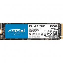 Disco duro interno solido ssd crucial p2 ct250p2ssd8  250gb m.2 nvme - Imagen 1