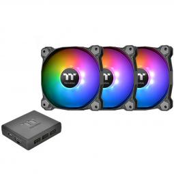 Ventilador 120x120 thermaltake pure plus 12 rgb tt 3 - uds pack 3 unidades -  ventilador 120x120mm rgb -  1500 rpm - Imagen 1