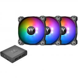 Kit de ventiladores 140x140 thermaltake pure plus 14 rgb tt p3uds pack 3 unidades -  1500 rpm - Imagen 1