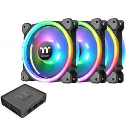 Kit de ventiladores 120x120 thermaltake riing trio 12 rgb tt pack 3 unidades -  1500 rpm - Imagen 1