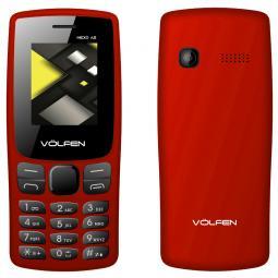 Telefono movil volfen a2 rojo pantalla 1.8pulgadas -  camara  - radio fm - dual sim - micro sd - bateria larga duracion - Imagen