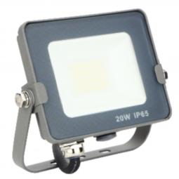 Foco led silver electronics forge+proyector  ips 65 20w -  5700k luz fria -  1600lm color gris - Imagen 1