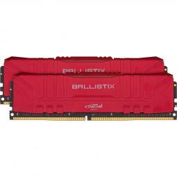 Memoria ddr4 16gb 2x8gb crucial ballistix gaming  - udimm - 3200 mhz - pc4 25600 - cl16 - rojo - Imagen 1
