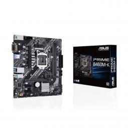 Placa base asus intel prime b460m - k socket 1200 ddr4 x2 max 64gb 2933 mhz dvi - d d - sub matx - Imagen 1