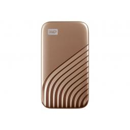 Disco duro externo hdd wd western digital 2tb my passport ssd usb tipo c gold - Imagen 1