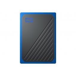 Disco duro externo hdd wd western digital 500gb my passport go ssd usb 3.0 cobalto - Imagen 1