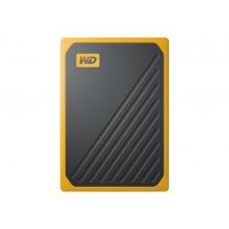 Disco duro externo hdd wd western digital 500gb my passport go ssd usb 3.0 ambar - Imagen 1