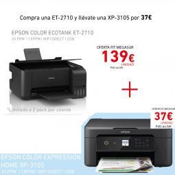 Kit epson ecotank et - 2710 + expression home xp - 3105 - Imagen 1