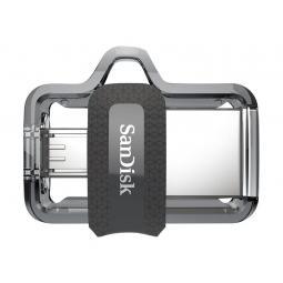Memoria usb 3.0 - micro usb sandisk 256gb ultra dual - Imagen 1