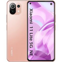 Telefono movil smartphone xiaomi  mi 11 lite 5g ne peach pink - 6.55pulgadas - 128gb rom -  6gb ram -  64+8+5 mpx -  20 mpx -