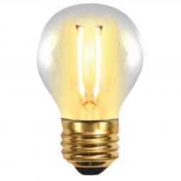 Bombilla led silver electronic filamento edison esferica 2w=25w -  e27 -  2.200k -  320º -  150 lm -  luz extra calida -  a+ - I