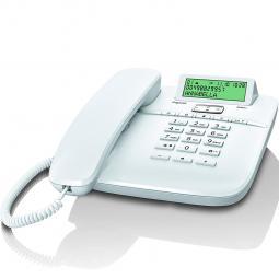 Telefono fijo gigaset da611 blanco 100 numerio agenda -  10 melodias - Imagen 1