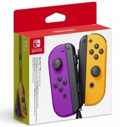 Accesorio nintendo switch -  mando joy - con morado neon - naranja - Imagen 1