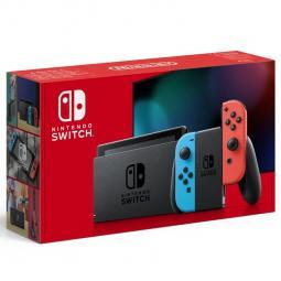Consola nintendo switch mando color azul neon - rojo neon v2 (2019) - Imagen 1