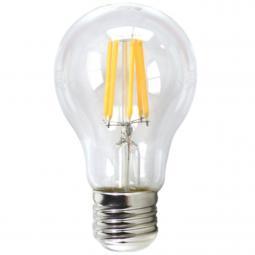 Bombilla led silver electronic filamento transprente estandar 6w=80w -  e27 -  3000k luz calida -  a++ - Imagen 1