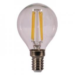 Bombilla led kodak filamento cristal esferica g45 -  e14 -  470lm -  calido 3000k -  4w=40w -  no regulable - Imagen 1