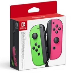 Accesorio nintendo switch -  mando joy - con verde - rosa - Imagen 1