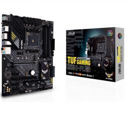 Placa base asus amd tuf gaming b550 - plus socket am4 ddr4 x4 max 128gb 3200mhz display port hdmi dvi - d atx - Imagen 1