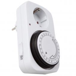 Programador silver electronic analógico -  24 horas -  3600w -  250v -  16a -  50hz -  ip 20 -  ajustable 15 minutos -  24h - Im