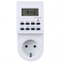 Programador silver electronic digital -  semanal -  3600w -  250v -  16a -  50hz -  ip 20 -  ajustable multifuncion - Imagen 1
