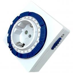 Programador silver electronic analógico -  24 horas -  3600w -  250v -  16a -  50hz -  ip 20 - ajustable 15 minutos -  24h - Ima