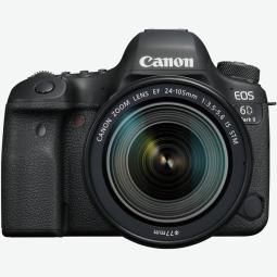 Camara digital reflex canon eos 6d mark ii + 24 - 105stm -  cmos -  26.2mp -  digic 7 -  45 puntos de enfoque -  wifi -  bluetoo