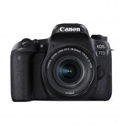 Camara digital reflex canon eos 77d + ef - s 18 - 55 is stm new -  cmos -  24.2mp -  digic 7 -  45 puntos de enfoque -  full hd