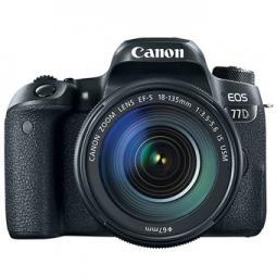 Camara digital reflex canon eos 77d + ef - s 18 - 135mm f3.5 - 5.6 is nano usm -   cmos -  24.2mp -  digic 7 -  45 puntos de enf