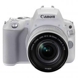 Camara digital reflex canon eos 200d + 18 - 55stm cmos -  24.2mp -  digic 7 -  9 puntos de enfoque -  blanco - Imagen 1