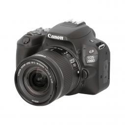 Camara digital reflex canon eos 200d + 18 - 55stm cmos -  24.2mp -  digic 7 -  9 puntos de enfoque -  negro - Imagen 1
