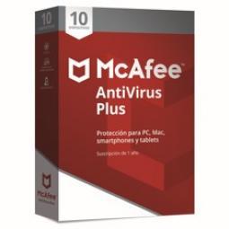 Antivirus mcafee antivirus plus 2019 10 dispositivos - Imagen 1